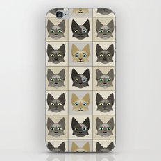 Anime Cat Faces Pattern iPhone & iPod Skin
