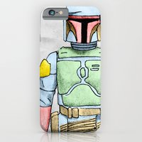 iPhone & iPod Case featuring My Favorite Toy - Boba Fett by Bili Kribbs