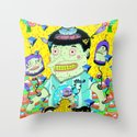 cafe veloz Throw Pillow