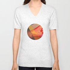 Orange flow Unisex V-Neck