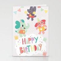 Happy Birthday Party Animals Stationery Cards