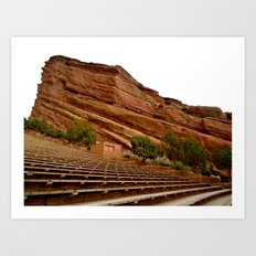 Red Rocks Amphitheater Art Print