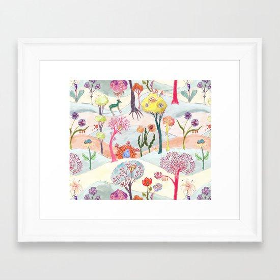 Garden Party - Print Framed Art Print