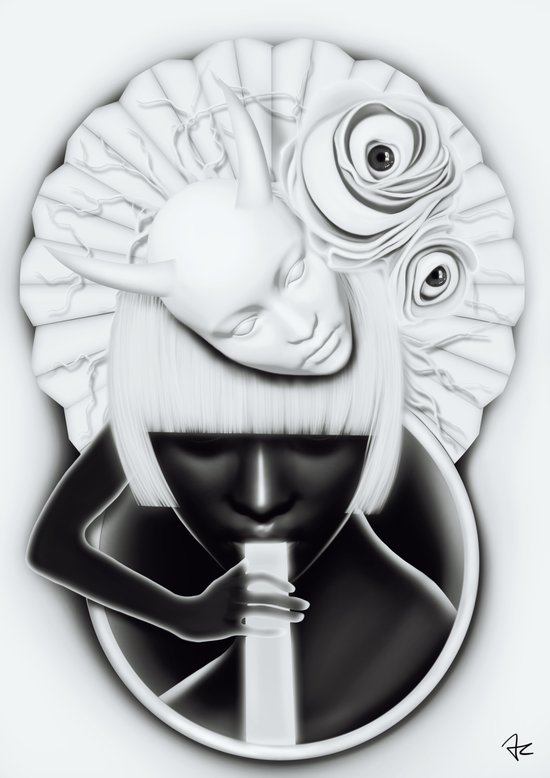 """Obake"" Canvas Print"