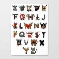Alphabeast Canvas Print