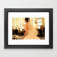 runaway bride Framed Art Print