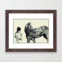 Synchronous Framed Art Print