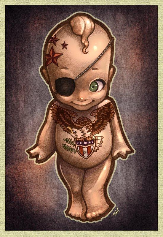 mala bebé Art Print