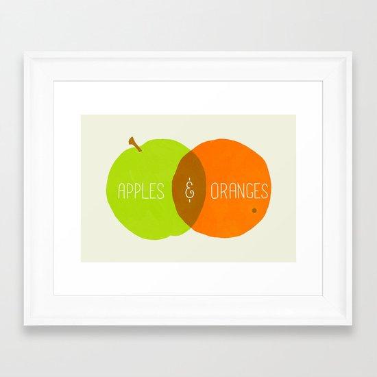 The Comparison Framed Art Print