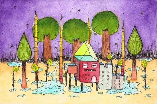 Dream House 2 Art Print