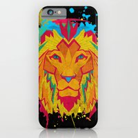 iPhone & iPod Case featuring Cat Series: Lion by UvinArt