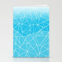 Ab Half And Half Electric Stationery Cards