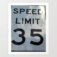 Speed 35 Art Print