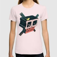 Brick Crossbones And A B… Womens Fitted Tee Light Pink SMALL