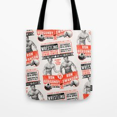 the Great 'Stache Clash (black & orange variant) Tote Bag