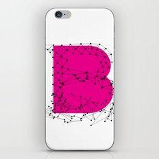 B (abstract geometrical type) iPhone & iPod Skin