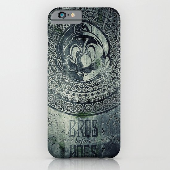 Super Mario Memorial Stone - Bros Before Hoes iPhone & iPod Case