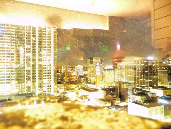 Denver Through a Dirty Window Art Print