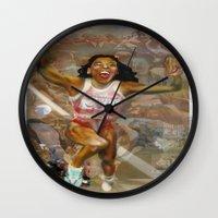AMERICA ON HER BACK Wall Clock