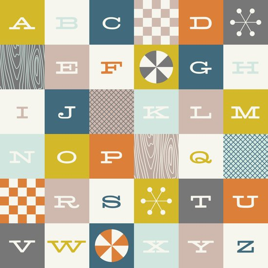 Block Alphabet - in Rust Canvas Print