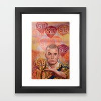Stop Biting pt.1 Framed Art Print