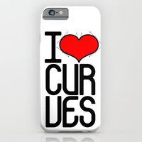 iPhone & iPod Case featuring I heart curves by blackmask