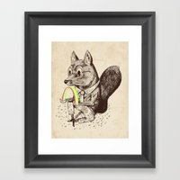 Strange Fox Framed Art Print
