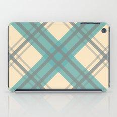 Teal Pastel Plaid iPad Case