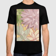 Succulents Mens Fitted Tee Black SMALL