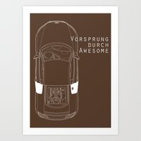 Vorsprung Durch Awesome Art Print