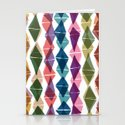 Collage and Digital Diamonds Pattern print Stationery Cards
