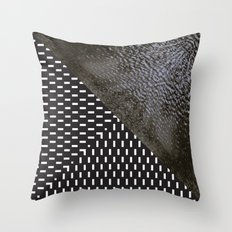 waves/grid #10 Throw Pillow