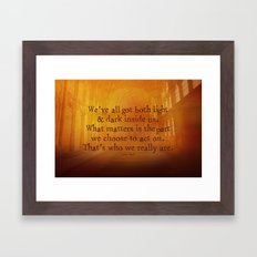 HARRY POTTER // SIRIUS BLACK Framed Art Print