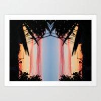 REVERSED SUMMER SHADOWS Art Print