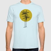 buenas tardes Mens Fitted Tee Light Blue SMALL