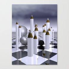 white pencils Canvas Print