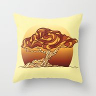 Stylized Tree Throw Pillow