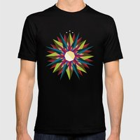 Half Circle Stars Mens Fitted Tee Black SMALL