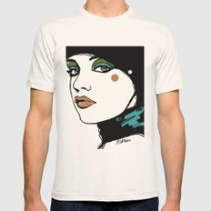 Green Eyeshadow  Mens Fitted Tee Natural SMALL