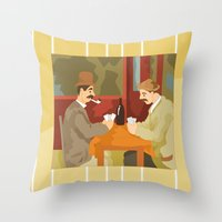 Card players by Cezanne Throw Pillow