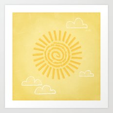 Primitive Sun (Warm Variant) Art Print