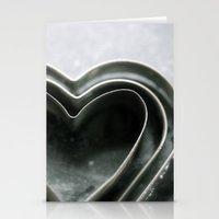 Hearts Together - Vintage Bakeware  Stationery Cards