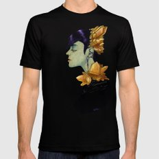 Citrine  SMALL Mens Fitted Tee Black