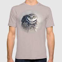 Burrowing Owl Mens Fitted Tee Cinder SMALL