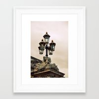 leave the light on Framed Art Print