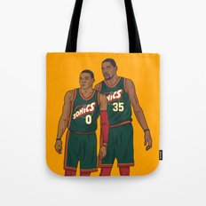 Westbrook and Durant - Retro Jersey Tote Bag
