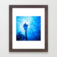 The Blue Lamp Framed Art Print