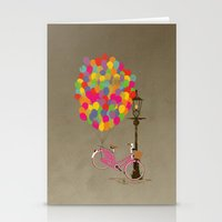 Love to Ride my Bike with Balloons even if it's not practical. Stationery Cards