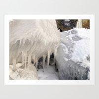 Frozen Stones Art Print