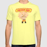 The Powerful 50ft. Man Mens Fitted Tee Lemon SMALL